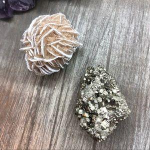 New beginnings Desert rose pyrite natural crystal